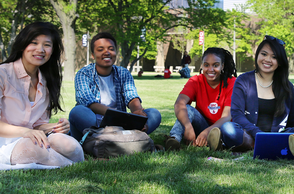 Student group on campus