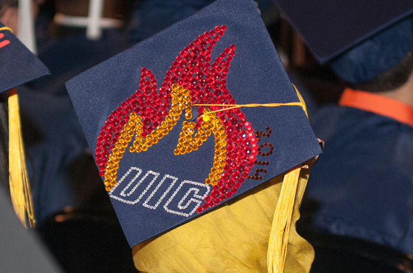 UIC on student's mortarboard